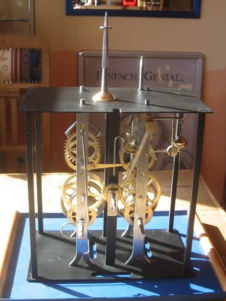 Werkstatt Himbert für Uhren und mehr... Comtoise Uhrwerk nach der Restaurierung
