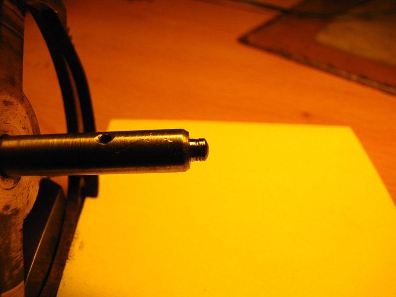 Werkstatt Himbert für Uhren und mehr... Radzapfen im eingelaufenen Zustand